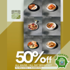 Matchaya 50% OFF MAINS