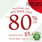 UP TO 80% OFF PLAYDRESS