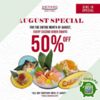 senshi sushi grill 50 off dine in aug promo