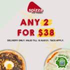 spizza 2 for 38 aug promo
