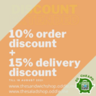 the sandwich shop up to 25 off aug promo