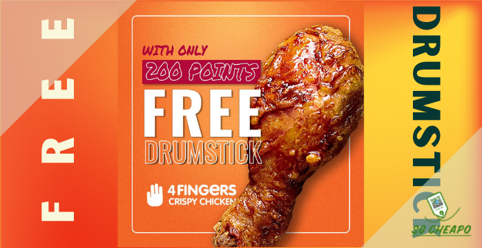 4 Fingers - FREE DRUMSTICK - Expires 30 Sep - sgCheapo Banner