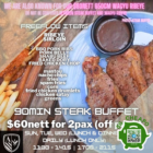 Armoury Steak & Craft Beer - UNLIMITED STEAK BUFFET @ $60 FOR 2 PAX - sgCheapo