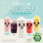 Bober Tea - 50% OFF Second Fruit Smoothie - sgCheapo