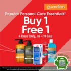 Guardian Buy 1 FREE 1 personal care products