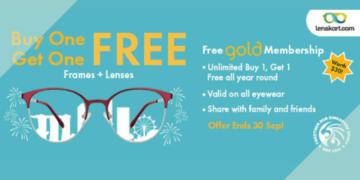 Lenskart BUY 1 GET 1 FREE FRAMES LENSES