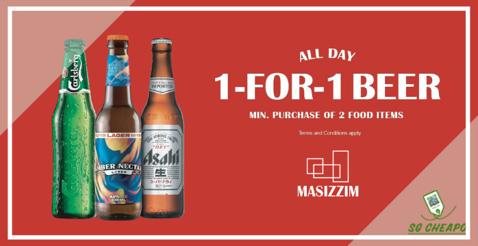 Masizzim - 1-FOR-1 Beer - Ends 31 Oct 2021 - sgCheapo Banner