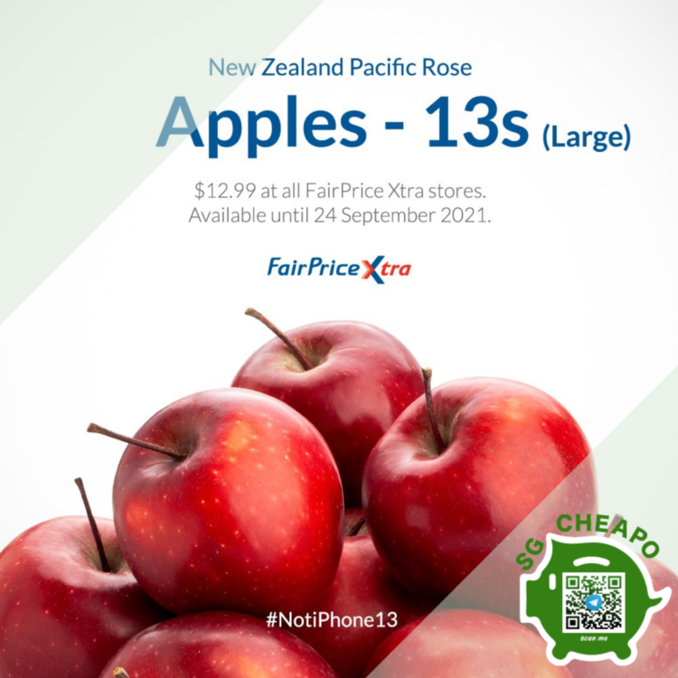 NTUC Fairprice - APPLES 13S @ ONLY $12.99 - sgCheapo