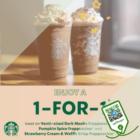 Starbucks - 1-FOR-1 STARBUCKS Frappucino - sgCheapo